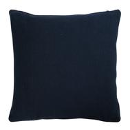 Подушка декоративная Tkano Essential, из хлопка фактурного плетения темно-синего цвета, 45х45 - арт.TK19-CU0013, фото 1