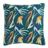 Чехол для декоративной подушки Tkano Wild, хлопок зеленого цвета с дизайнерским принтом Birds of Nile, 45х45 см - арт.TK19-CC0003, фото 1