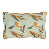 Чехол для декоративной подушки Tkano Wild, хлопок мятного цвета с дизайнерским принтом Birds of Nile, 30х50 см - арт.TK19-CC0004, фото 1