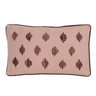 Подушка декоративная Tkano Ethnic, из хлопка цвета пыльной розы с контрастным кантом, 30х50 см - арт.TK19-CU0009, фото 1