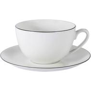 Чашка с блюдцем Anna Lafarg Emily Арктика, костяной фарфор, 0.25л - арт.AL-103A-E11, фото 1