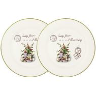 Набор обеденных тарелок Anna Lafarg LF Ceramics Букет, керамика, 25см - 2шт - арт.AL-120E2257-3-B-LF, фото 1