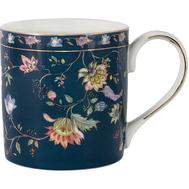 Кружка Anna Lafarg Primavera Флора, фарфор, синяя, 0.35л - арт.AL-1557DB-M-P4, фото 1