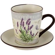 Чашка с блюдцем Anna Lafarg LF Ceramics Лаванда, керамика, 0.2л - арт.AL-430F8556-1-L-LF, фото 1