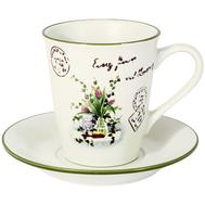 Чашка с блюдцем Anna Lafarg LF Ceramics Букет, керамика, 0.2л - арт.AL-500F6283-1-B-LF, фото 1