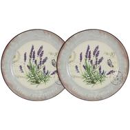 Набор десертных тарелок Anna Lafarg LF Ceramics Лаванда, керамика, 20см - 2шт - арт.AL-55E2258-L-LF, фото 1