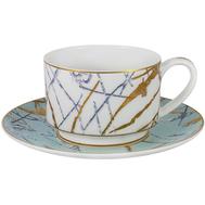 Чашка с блюдцем Anna Lafarg Emily Марсель, костяной фарфор, 0.2л - арт.AL-M2262_CS-E9, фото 1