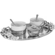 Чайный набор Chinelli Giglio, посеребрение, на 2 персоны - арт.GA-VEN2007, фото 1