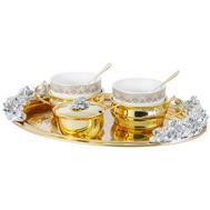 Чайный набор Chinelli Giglio, позолота, на 2 персоны - арт.GA-VEN6007_1, фото 1