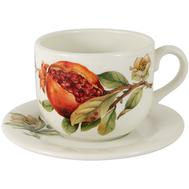 Чашка с блюдцем Julia Vysotskaya Гранат, керамика, 400мл - арт.JV3-933TP-30057, фото 1