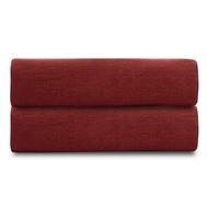 Простыня на резинке Tkano Essential, лён бордового цвета, 120х200х28 см - арт.TK18-LS0010, фото 1