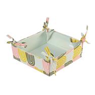 Корзинка для хлеба Tkano Wild, хлопок мятного цвета с принтом Passion Arch, 35х35 см - арт.TK19-BB0004, фото 1