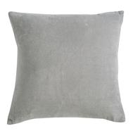 Подушка декоративная Tkano Essential, из хлопкового бархата серого цвета, 45х45 см - арт.TK19-CU0007, фото 1