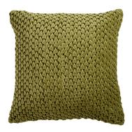 Подушка декоративная стеганая Tkano Essential, из хлопкового бархата оливкового цвета, 45х45 см - арт.TK19-CU0003, фото 1