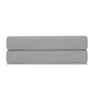 Простыня на резинке Tkano Essential, сатин светло-серого цвета, 180х200х28 см - арт.TK19-FS0025, фото 1