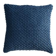 Подушка декоративная стеганая Tkano Essential, из хлопкового бархата темно-синего цвета, 45х45 - арт.TK19-CU0002, фото 1