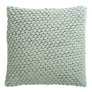 Подушка декоративная стеганая Tkano Essential, из хлопкового бархата мятного цвета, 45х45 см - арт.TK19-CU0004, фото 1