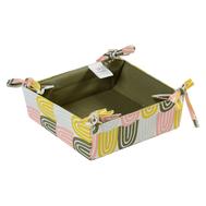 Корзинка для хлеба Tkano Wild, хлопок оливкового цвета с принтом Passion Arch, 35х35 см - арт.TK19-BB0003, фото 1
