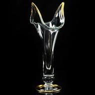 Ваза для цветов Migliore DeLuxe Decor, хрусталь, декор золото 24К, 50см - арт.25686, фото 1
