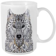 Кружка фарфоровая Home & Style Волк, 500мл - арт.HS3-M350-0228-E, фото 1