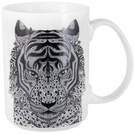 Кружка фарфоровая Home & Style Тигр, 500мл - арт.HS3-M350-0228-J, фото 1