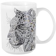 Кружка фарфоровая Home & Style Леопард, 500мл - арт.HS3-M350-0228-K, фото 1