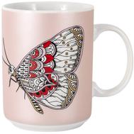 Кружка фарфоровая Home & Style Бабочка, 400мл - арт.HS3-M350-0247-F, фото 1