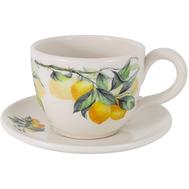 Чашка с блюдцем Julia Vysotskaya Лимоны, керамика, 400мл - арт.JV3-933TP-30031, фото 1