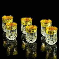Набор стопок Migliore DeLuxe Imperia, хрусталь, декор золото 24К - 6шт - арт.25536, фото 1