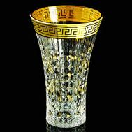 Ваза для цветов Migliore DeLuxe Imperia, хрусталь, декор золото 24К, 27см - арт.25537, фото 1