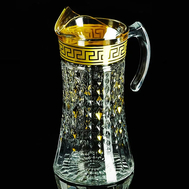 Кувшин Migliore DeLuxe Imperia, хрусталь, декор золото 24К, 1.5л 27см - арт.25538, фото 1