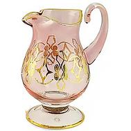 Кувшин Migliore DeLuxe Venezia, хрусталь розовый, декор золото 24К, 1.5л 27см - арт.25549, фото 1