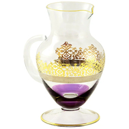 Кувшин Migliore DeLuxe Luciana, хрусталь, декор золото 24К, 1л 23см - арт.25575, фото 1