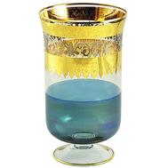 Ваза для цветов хрустальная Migliore DeLuxe Adriatica, декор золото 24К, платина, 32см - арт.25589, фото 1
