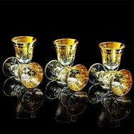 Набор рюмок Migliore DeLuxe Dinastia, хрусталь, декор золото 24К - 6шт - арт.25657, фото 1