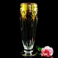 Ваза для цветов Migliore DeLuxe Dinastia, хрусталь, декор золото 24К, 42см - арт.25659, фото 1