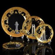 Набор тарелок Migliore DeLuxe Dinastia, хрусталь, декор золото 24К - 4шт - арт.25662, фото 1