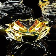 Пепельница Migliore DeLuxe Pocker, хрусталь, декор золото 24К, 15см - арт.25675, фото 1