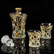 Набор для виски Migliore DeLuxe Casino: графин + 2 стакана, хрусталь, декор золото 24К - арт.25677, фото 1