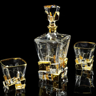 Набор для виски Migliore DeLuxe Lord: графин + 2 стакана, хрусталь, декор золото 24К - арт.25678, фото 1