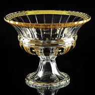 Ваза для фруктов Migliore DeLuxe Decor, хрусталь, декор золото 24К, диаметр 31см - арт.25683, фото 1