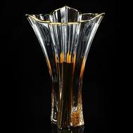 Ваза для цветов Migliore DeLuxe Decor, хрусталь, декор золото 24К, 36см - арт.25684, фото 1