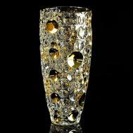 Ваза для цветов Migliore DeLuxe Decor, хрусталь, декор золото 24К, 33см - арт.25689, фото 1