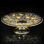Блюдо для фруктов Migliore DeLuxe Decor, хрусталь, декор золото 24К, диаметр 35см - арт.25690, фото 1