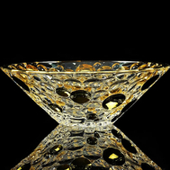 Ваза для фруктов Migliore DeLuxe Decor, хрусталь, декор золото 24К, диаметр 30см - арт.25691, фото 1