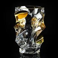 Ваза для цветов Migliore DeLuxe Decor, хрусталь, декор золото 24К, 28см - арт.25692, фото 1