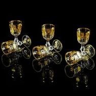 Набор рюмок Migliore DeLuxe Gloria, хрусталь, декор золото 24К - 6шт - арт.25696, фото 1