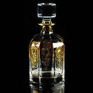 Штоф Migliore DeLuxe Gloria, хрусталь, декор золото 24К, 22см 0.85л - арт.25700, фото 1