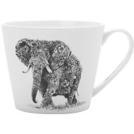 Кружка фарфоровая Maxwell & Williams Африканский слон, 450мл - арт.MW637-DX0510, фото 1