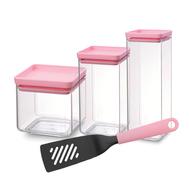 Brabantia Набор: 3 контейнера для хранения продуктов + лопатка перфорированная - арт.PNB29, фото 1